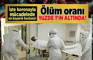 İşte korona ile mücadelede en başarılı hastane!...
