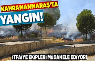 Kahramanmaraş'ta yangın! itfaiye ekipleri müdahale...