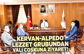Kervan Alpedo Lezzet Grubundan Vali Coşkun'a...