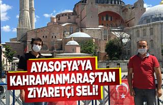 Ayasofya'ya Kahramanmaraş'tan ziyaretçi...