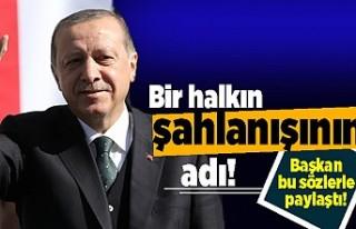 Başkan Erdoğan'dan Kıbrıs mesajı
