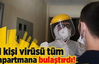 Bir kişi virüsü tüm apartmana bulaştırdı!