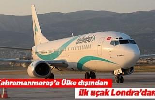 Kahramanmaraş'a Ülke dışından ilk uçak...