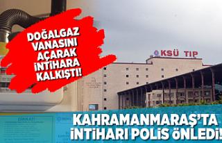 Kahramanmaraş'ta intiharı polis engelledi!