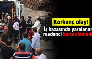 Korkunç kaza! İş kazasında yaralanan madenci kurtarılamadı!