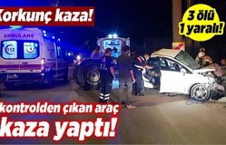 Korkunç kaza! Kontrolden çıkan araç kaza yaptı!...