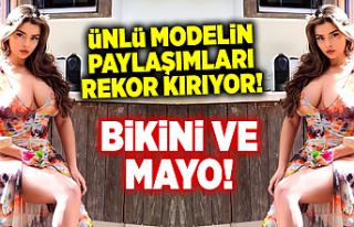 Ünlü model Demi Rose, bikinili paylaşımıyla beğeni...