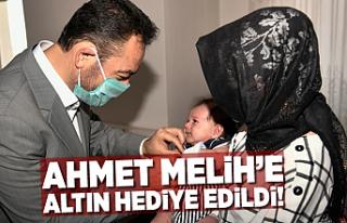 Ahmet Melih'e Elbistan Belediye Başkanı altın...
