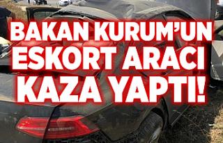 Bakan Kurum'un eskort aracı kaza yaptı!