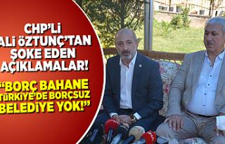CHP'li Ali Öztunç ortalığı kasıp kavurdu:...