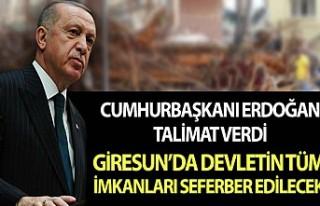 Cumhurbaşkanı Erdoğan, Giresun'da devletin...