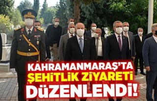 Kahramanmaraş'ta şehitlik ziyareti düzenlendi!