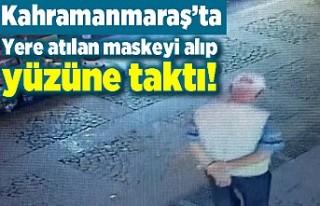 Kahramanmaraş'ta virüsü aldırmayan bir vatandaş...