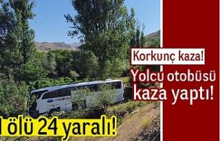 Korkunç kaza! Yolcu otobüsü kaza yaptı! 1 ölü...