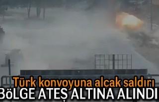 Türk konvoyuna alçak saldırı! Böle ateş altına...