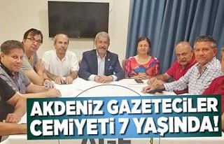 Akdeniz Gazeteciler Cemiyeti 7 yaşında!