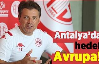 Antalya'da hedef Avrupa!