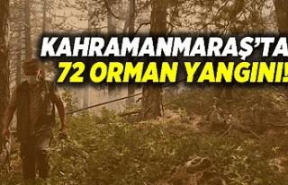 Kahramanmaraş'ta 72 orman yangını!