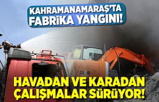 Kahramanmaraş'ta fabrika alevlere teslim oldu,...