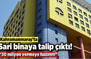 """Sarı binaya talip çıktı! """"30 milyon vermeye..."""
