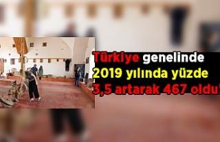 Türkiye genelinde 2019 yılında yüzde 3,5 artarak...