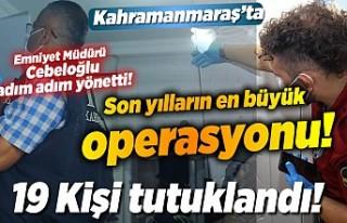 Emniyet Müdürü Cebeloğlu'nun bizzat yönettiği,...