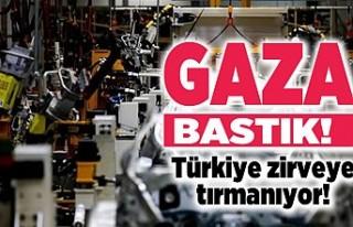 Gaza bastık Türkiye zirveye tırmanıyor!