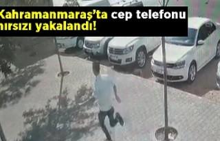 Kahramanmaraş'ta cep telefonu hırsızı yakalandı!