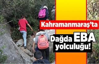 Kahramanmaraş'ta dağda EBA yolculuğu!