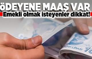 Ödeyene maaş var! Emekli olmak isteyenler dikkat!