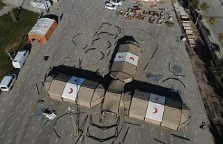 Van'da 'ağır iklim sahra hastanesi kurulumu'...