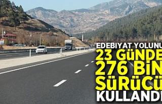 Edebiyat Yolunu 23 günde 276 bin sürücü kullandı