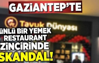 Gaziantep'te skandal ünlü restaurant zincirinde...