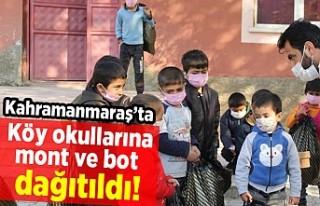 Kahramanmaraş'ta köy okullarına mont ve bot...