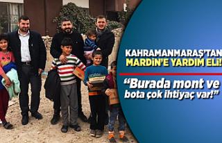 Kahramanmaraş'tan Mardin'e yardım eli!