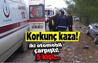 Kahramanmaraş'ta korkunç kaza! iki otomobil...