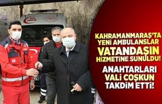 Kahramanmaraş'ta yeni ambulanslar vatandaşın...