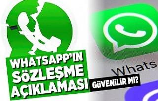 Whatsapp'ın sözleşme açıklaması! Güvenilir...