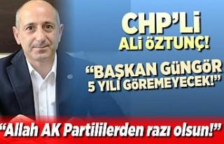 CHP'li Ali Öztunç'tan tarihi itiraf: ''Allah...