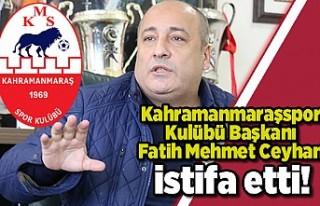 Kahramanamraşspor Kulübü Başkanı Fatih Mehmet...