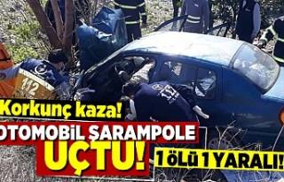 Korkunç kaza! Otomobil şarampole uçtu! 1 ölü...