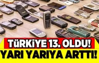 Türkiye 13'üncü oldu! Yarı yarıya arttı
