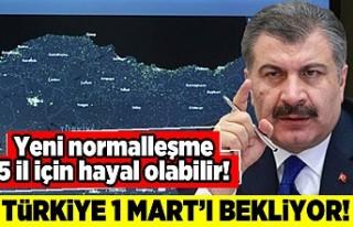 Yeni normalleşme 5 il için hayal olabilir! Türkiye...