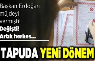 Başkan erdoğan müjdeyi vermişti! Değişti! Artık...