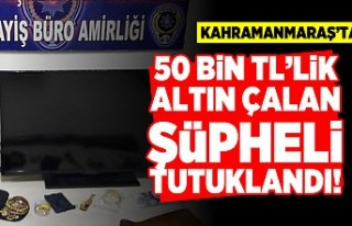 Kahramanmaraş'ta 50 Bin TL'lik altın çalan...