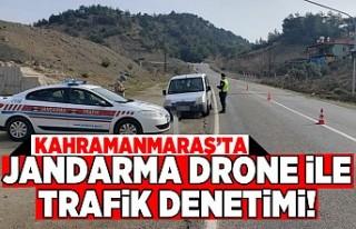 Kahramanmaraş'ta jandarma drone ile trafik denetimi...