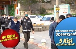 Kahramanmaraş'ta tefeci operasyonu! 5 kişi...