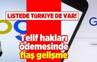 Listede Türkiye de var! Telif hakları ödemesinde...