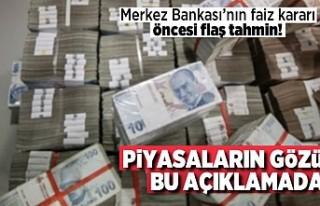 Merkez Bankası'nın faiz kararı önce flaş...
