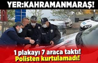 1 Plakayı 7 araca taktı, polisten kurtulamadı Yer:...